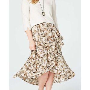 J. Jill petite High low Ruffled skirt